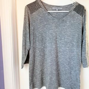 MARC NEW YORK MARC ANDREW HEATHERED GRAY TOP